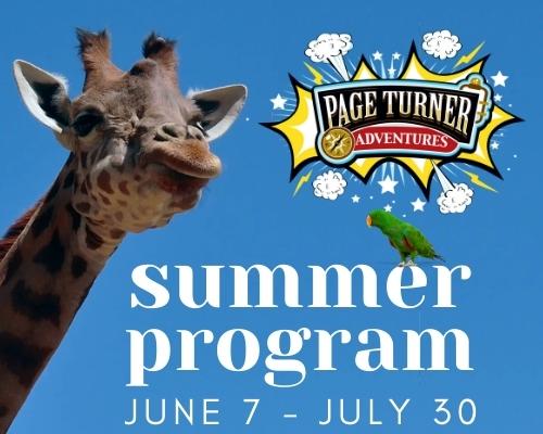 Page Turner Adventures summer program June 7 - July 30